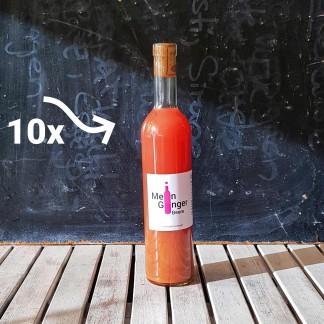 Mein Ginger Beere Flasche mit 10x Beschriftung, zur Anzeige als 10er Set Mein Ginger Beere